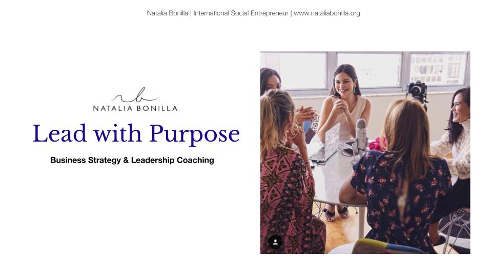 Business Strategy Coaching Natalia Bonilla